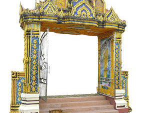 3D thailand temple gate