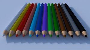 crayon 3D model