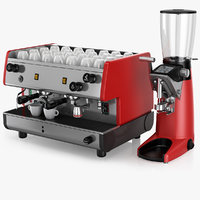Espresso Coffee Machine La Pavoni BAR T -  BAR T 2M and Compak F10 Master Conic OD Coffee Grinder