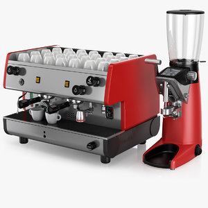 3D espresso coffee machine la model