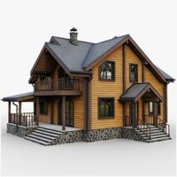 gameready cottage 9 house 3D model