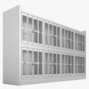 3D storage shelving weapon model