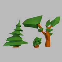 spruce shrub tree 3D