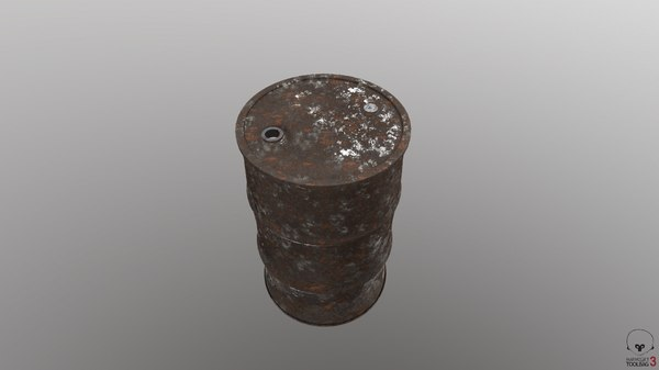 barrel industrial container 3D