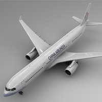 airbus a330-300 china airlines 3D model
