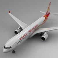 3D airbus a330-300 hong kong