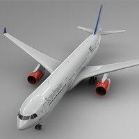 3D airbus a330-300 scandinavian airlines