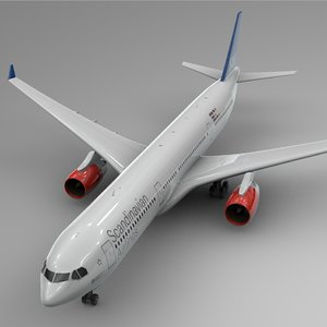 3D airbus a330-300 scandinavian airlines
