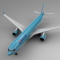 airbus a330-300 korean air 3D
