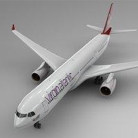3D model airbus a330-300 virgin atlantic