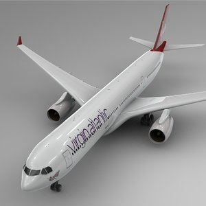 3D model airbus a330-300 virgin atlantic