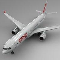 3D airbus a330-300 swiss air