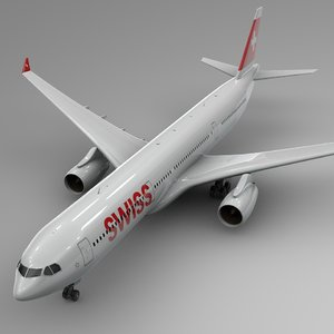 3D airbus a330-300 swiss air