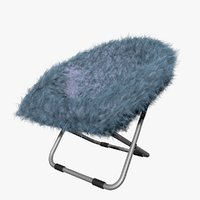 3D model blue gray fur rific