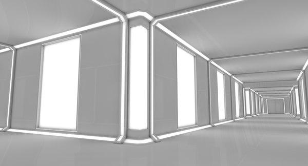 sci fi interior lighting model