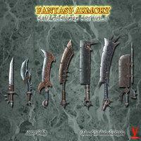 swords weapons 3D model