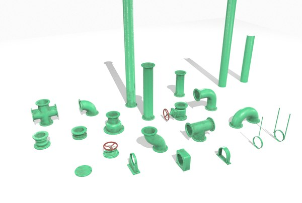 pack pipes pbr 3D model