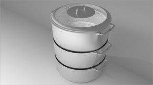 kitchen steamer 3D model