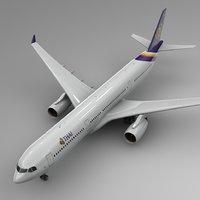 airbus a330-300 thai airways 3D model