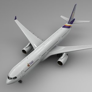 airbus a330-300 thai airways 3D model