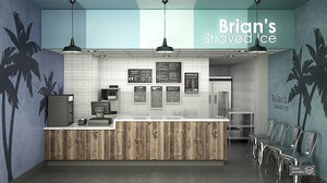 brians shaved ice interior model