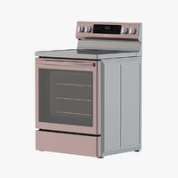 3D model range stainless convection