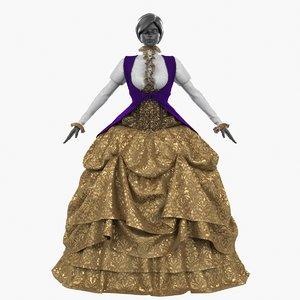 dress victorian apparelle 3D model
