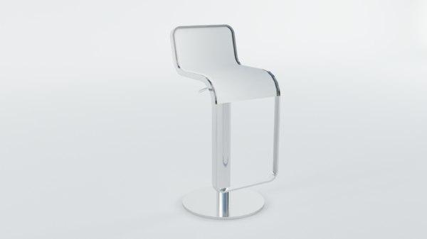 3D model barstool bar