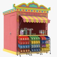 real candy booth 3D