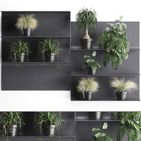 plants wall decor vertical 3D model