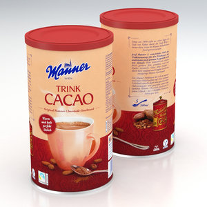 3D drink cacao model