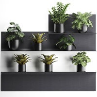 3D model plants wall decor vertical