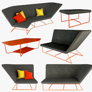 ultrasofa armchair sofa 3D model
