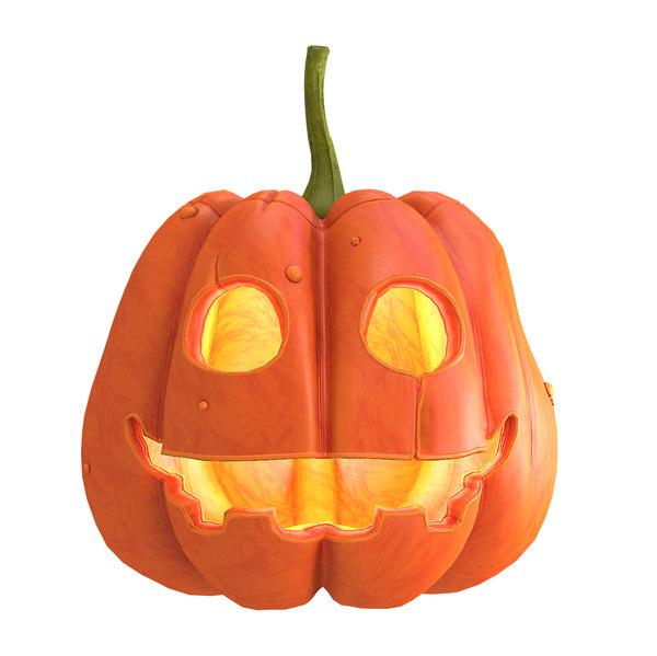 3D pumpkin mo model