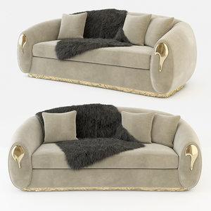 3D model cushion soleil