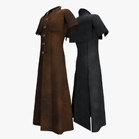 coat cape sleeveless 3D model