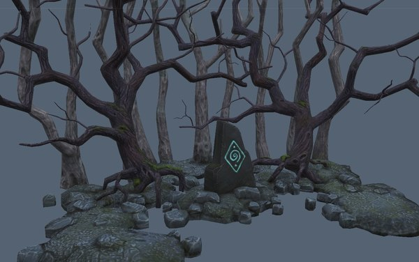 forest low-poly model