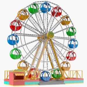 real ferris wheel 3D model
