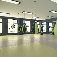 kickboxing gym 3D
