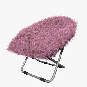 pink gray fur rific model