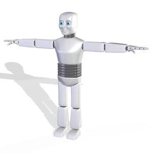 cartoon robot character cyborg 3D model