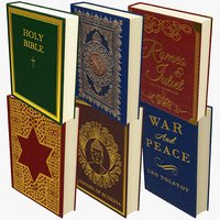 3D books bible model