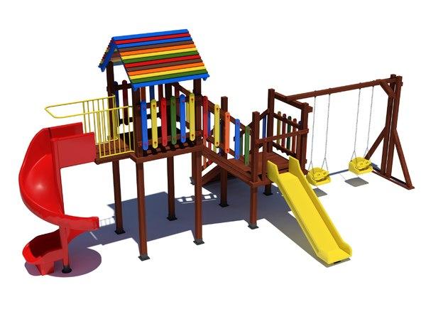 3D wooden kids