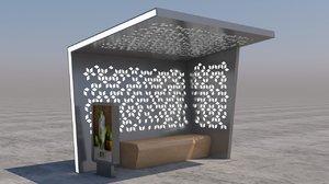 bus stop street 3D model