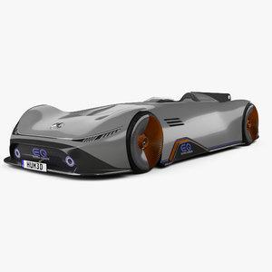 3D model mercedes-benz vision eq