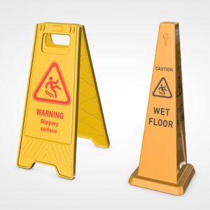 3D wet floor sign pack