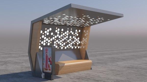 3D bus stop