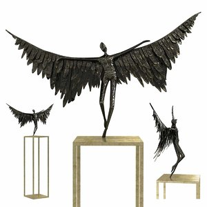 sculpture icarus bronze 3D