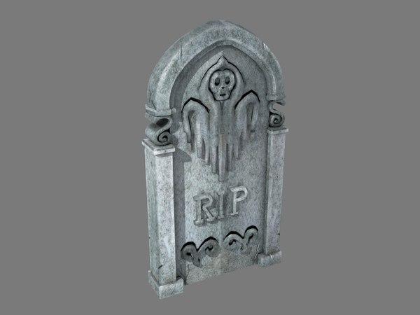 tombstone ghost pbr 3D model