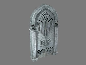 tombstone ghost pbr 3D model